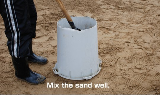 Let's make a foundation of sand sculpture 4