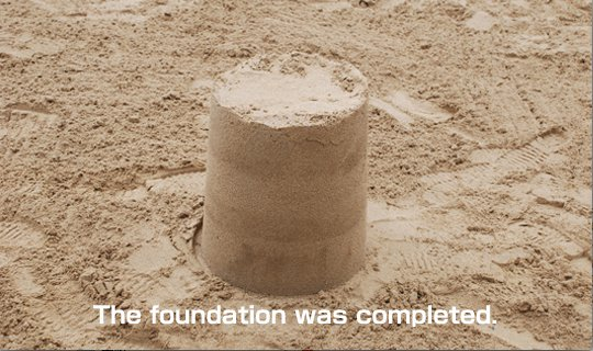 Let's make a foundation of sand sculpture 8